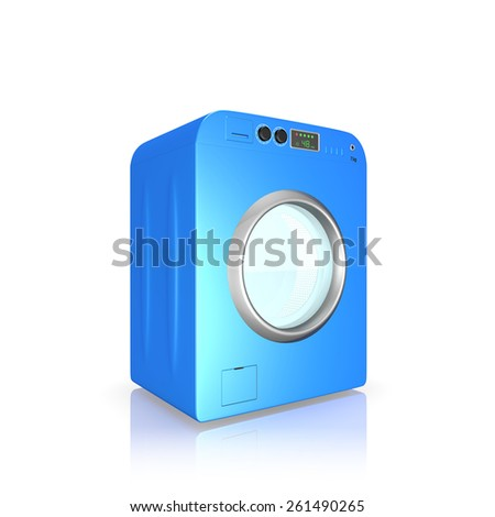 washing machine on a white background
