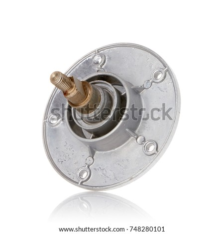 washing machine spare parts on a white background