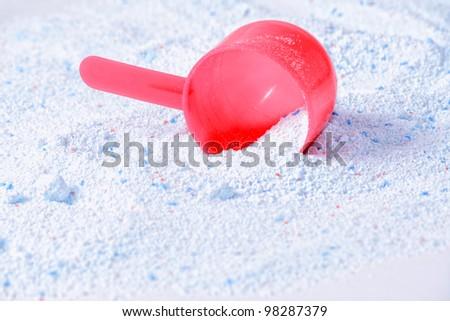 washing powder on the background - stock photo