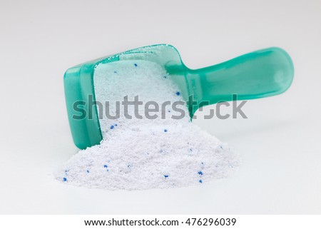 Washing Powder on white background