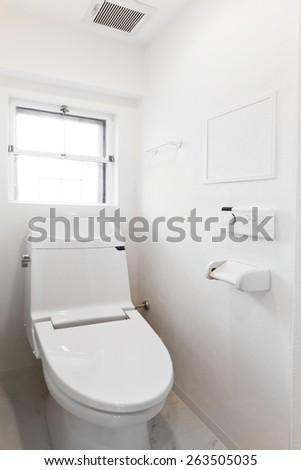 Washing toilet seat made in Japan - stock photo