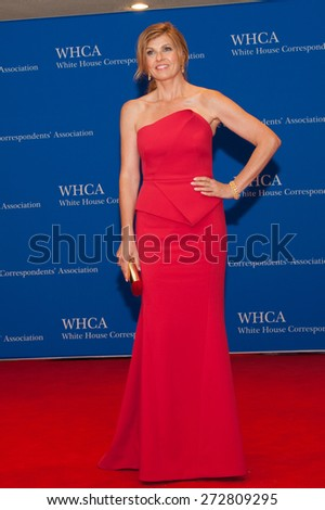 WASHINGTON APRIL 25 - Actress Connie Britton arrives at the White House Correspondents' Association Dinner April 25, 2015 in Washington, DC - stock photo