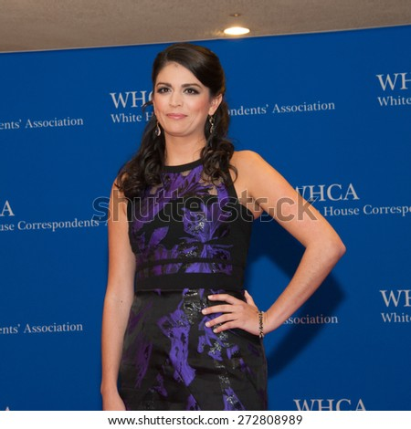 WASHINGTON APRIL 25 - Cecily Strong arrives at the White House Correspondents' Association Dinner April 25, 2015 in Washington, DC - stock photo