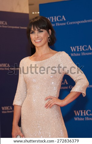WASHINGTON APRIL 25 - Constance Zimmer arrives at the White House Correspondents' Association Dinner April 25, 2015 in Washington, DC  - stock photo