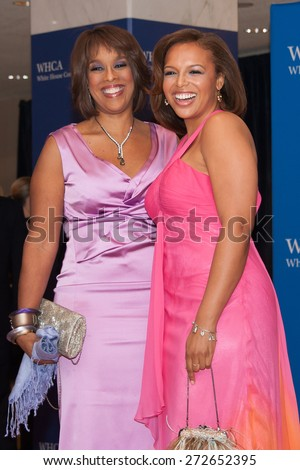 WASHINGTON APRIL 25 â?? Gayle King and daughter Kirby Bumpus arrive at the White House Correspondentsâ?? Association Dinner April 25, 2015 in Washington, DC  - stock photo