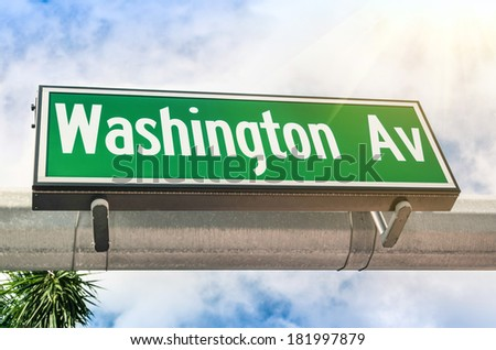 Washington Avenue in Miami - Florida United States - stock photo