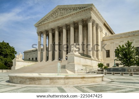 Washington D.C. architecture showcasing the Supreme Court neoclassic architecture. - stock photo