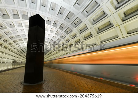 Washington D.C. - Subway station interior - stock photo
