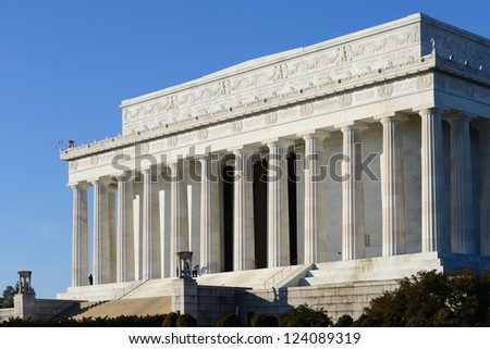 Washington DC - Abraham Lincoln Memorial - stock photo
