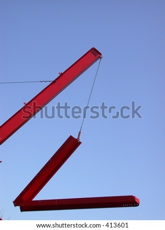 washington DC abstract art in National Mall red metal beams