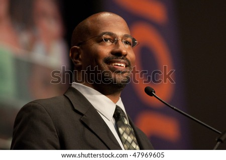 WASHINGTON, DC - APRIL 27: Van Jones, former Obama's Advisor for Green Jobs, Enterprise and Innovation, speaks at the Mobilization to End Poverty conference April 27, 2009 in Washington, DC.