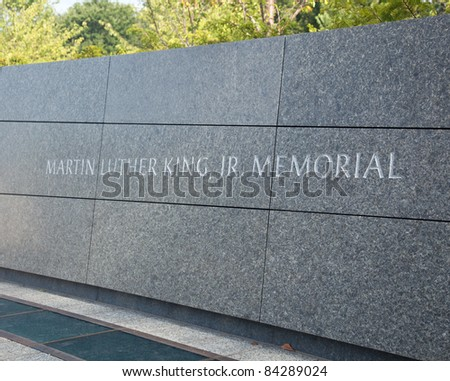 WASHINGTON, DC - AUGUST 24: The monument to Dr Martin Luther King on August 24, 2011. Hurricane Irene caused the cancellation of the dedication ceremony. - stock photo