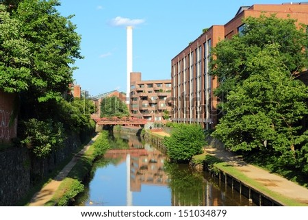 Washington DC, capital city of the United States. Famous post-industrial Canal Park in Georgetown district. - stock photo