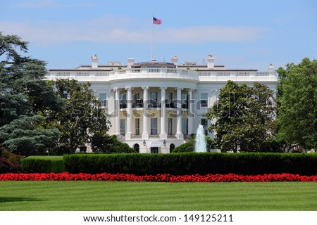Washington DC, capital city of the United States. White House building. Presidential office.