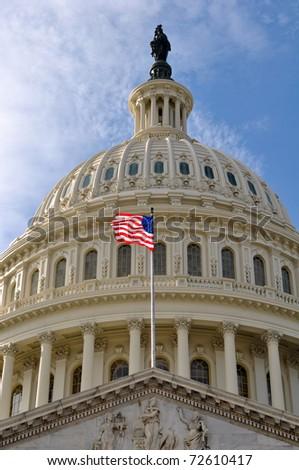 Washington DC Capitol Hill Dome - stock photo