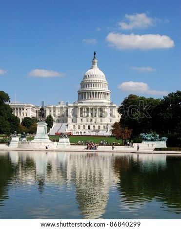 Washington DC Capitol, USA - stock photo