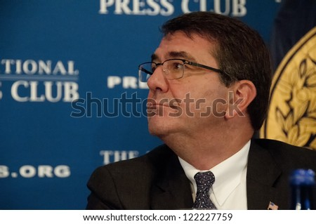 WASHINGTON, DC - DEC. 18:  Deputy Secretary of Defense Ashton Carter attends a luncheon at the National Press Club, December 18, 2012 in Washington, DC