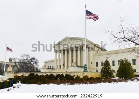 Washington DC in Winter - Supreme Court Building - stock photo