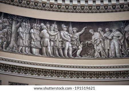 Washington DC internal capitol dome painting - stock photo
