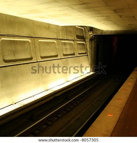 Washington DC Metro subway station - stock photo