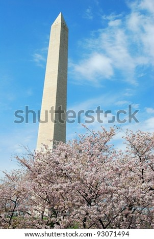 Washington DC Monument ,and Cherry Blossom USA