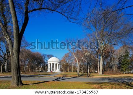 WASHINGTON DC - NOV 29: The District of Columbia War Memorial on Nov 29, 2013 in Washington DC, USA. It commemorates the citizens of the District of Columbia who served in World War I. - stock photo