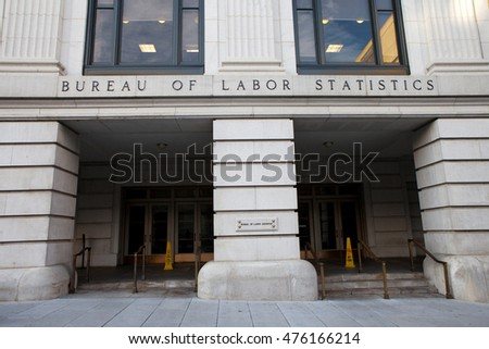 WASHINGTON, DC - NOVEMBER 12: Bureau of Labor Statistics in Washington, DC on November 12, 2015. It provides essential economic information to support public and private decision-making.