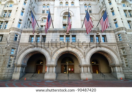Washington DC, Old Post Office building - stock photo