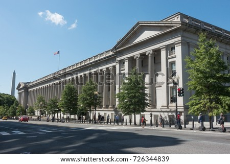 7 2017 Us Treasury Department Building Washington