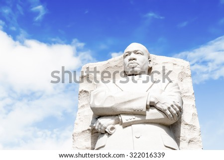 Washington, DC - September 27, 2015: The Martin Luther King, Jr. Memorial in Washington, DC opened in 2011. - stock photo