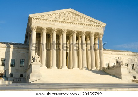 Washington DC - Supreme Court building - stock photo