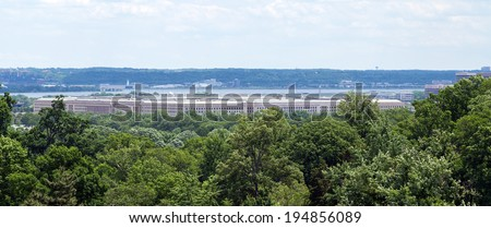 Washington, DC - The Pentagon building, headquarters for the United States Department of Defense - stock photo