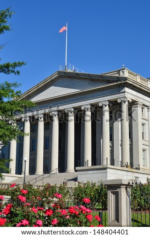 Washington DC - The Treasury Department Building   - stock photo