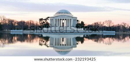 Washington DC - Thomas Jefferson Memorial in Winter - stock photo