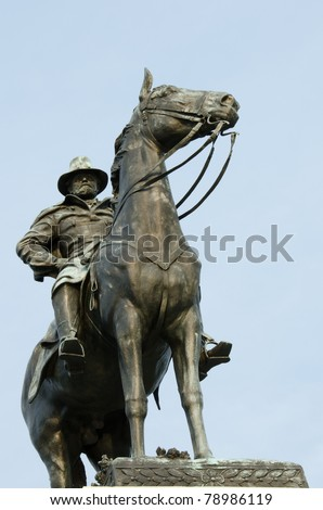 Washington DC -  Ulysses S. Grant Memorial in front of the Capitol Building - stock photo