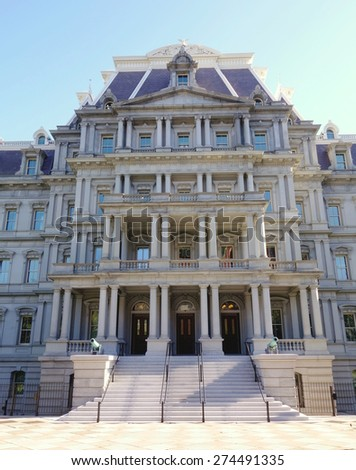 """Executive Office View """"eisenhower executive office building"""" stock images"""