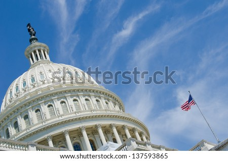 Washington DC, US Capitol Building dome  - stock photo