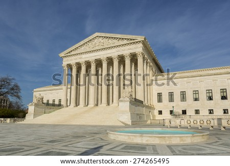 WASHINGTON, DC, USA - APRIL 06, 2015: United States Supreme Court building exterior.