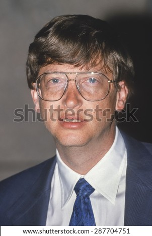 WASHINGTON, DC, USA - Bill Gates, President, Microsoft, at FOSE 1993 Convention. - stock photo