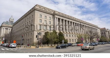 WASHINGTON, DC, USA - MARCH 23, 2006: IRS building. Internal Revenue Service. - stock photo