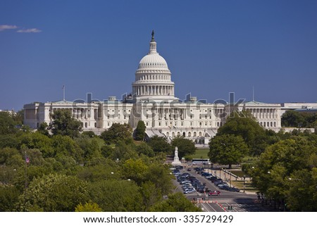 WASHINGTON, DC, USA - MAY 10, 2010: The United States Capitol dome.