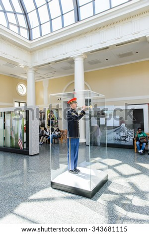 WASHINGTON DC, USA - SEP 24, 2015: Visitor center of Arlington national cemetery. It's a United States military cemetery - stock photo