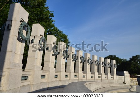 Washington DC - World War II Memorial - stock photo