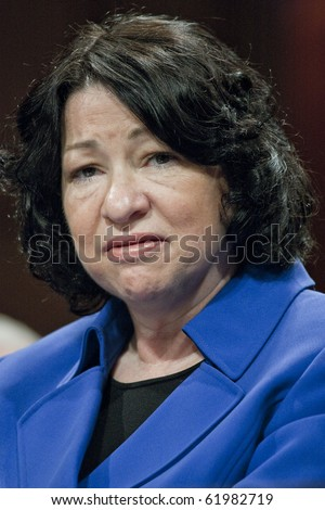 WASHINGTON - JULY 13 : US Supreme Court Nomimee hearing Sonia Sotomayor July 13, 2009 in Washington, DC - stock photo