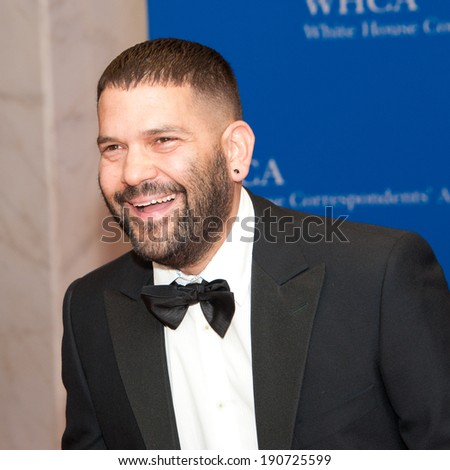 WASHINGTON MAY 3 � Guillermo Diaz arrives at the White House Correspondents� Association Dinner May 3, 2014 in Washington, DC - stock photo