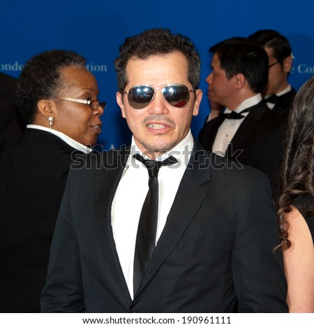 WASHINGTON MAY 3 -�� John Leguizamo arrives at the White House Correspondents� Association Dinner May 3, 2014 in Washington, DC - stock photo