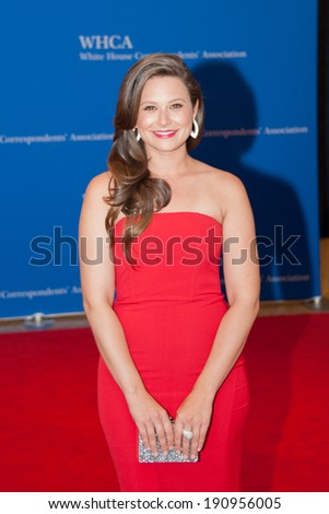 WASHINGTON MAY 3 - Katie Lowes arrives at the White House Correspondents� Association Dinner May 3, 2014 in Washington, DC - stock photo