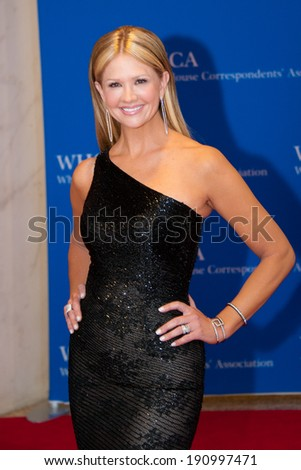 WASHINGTON MAY 3 -�� Nancy O'Dell arrives at the White House Correspondents� Association Dinner May 3, 2014 in Washington, DC - stock photo