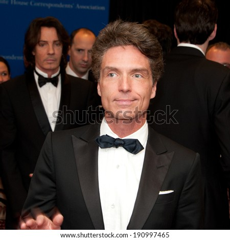 WASHINGTON MAY 3 -�� Richard Marx arrives at the White House Correspondents� Association Dinner May 3, 2014 in Washington, DC - stock photo