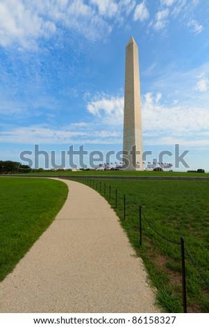 Washington Monument in the National Mall, Washington, DC - stock photo